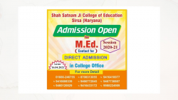 Admission Open (M.Ed)